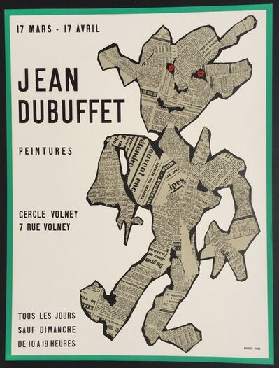 Jean Dubuffet, 'Peintures, Cercle Volney', 1954