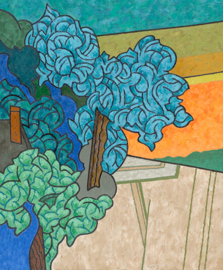 Easton Pribble, 'Blue Tree, Green Tree', 1996