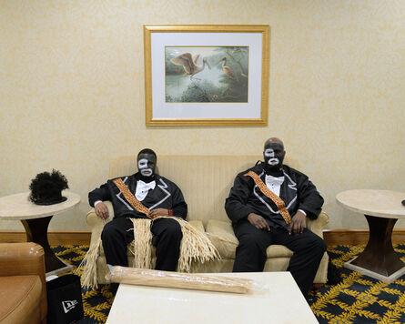 Nicola Lo Calzo, 'Brandon & Wallace wearing blackface Zulu Social & Aid & Pleasure Club, New Orleans, Louisiana', 2014
