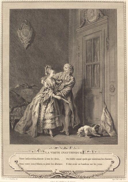 Nicolas Joseph Voyez after Sigmund Freudenberger, 'La visite inattendue', 1774