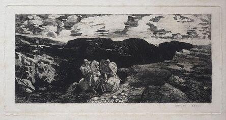 Odilon Redon, 'Lutte de cavaliers', 1865