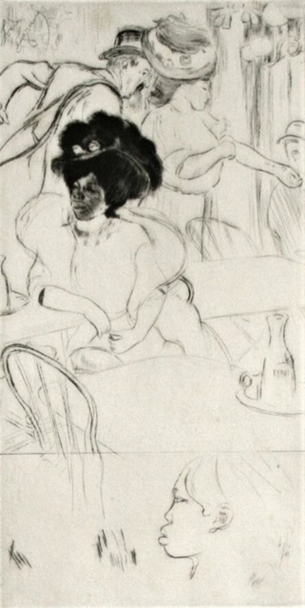 Louis Legrand, 'Au Café -- La Negresse.', 1908