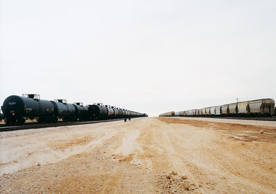 Victoria Sambunaris, 'Untitled (Parallel Cars) near Cotulla, Texas', 2012