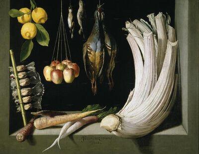 Juan Sánchez Cotán, 'Still Life with Game Bird, Fruit, and Vegetables', 1602
