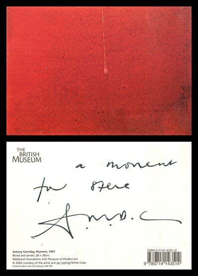 Antony Gormley, 'A Moment for Steve (Hand Signed and Inscribed) ', 1991