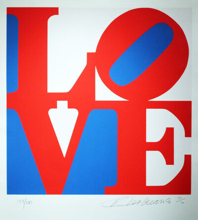 Robert Indiana, 'Love, Red and Blue from The Book Of Love', 1996
