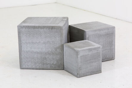 Bhakti Baxter, '3,4,5, Volumes with Stucco Waves (scratch coat)', 2014