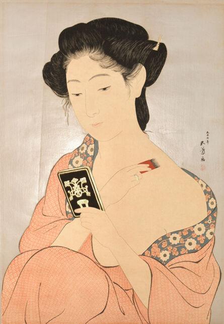 Goyo Hashiguchi, 'Woman Applying Powder', 1918