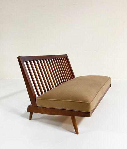 George Nakashima, 'Settee with Loro Piana Cashmere Cushions', 1970