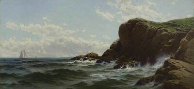 Alfred Thompson Bricher, 'Conanicut Cliffs, Rhode Island', ca. 1900
