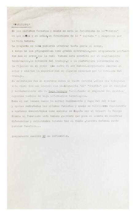 Ricardo Carreira, 'Fanatismo', 1986-1993