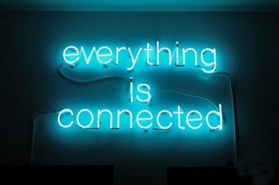 Peter Liversidge, 'everything is connected', 2015