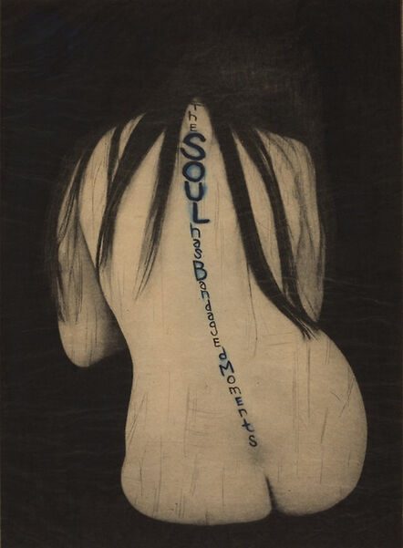 Lesley Dill, 'Back, from A Word Made Flesh', 1994