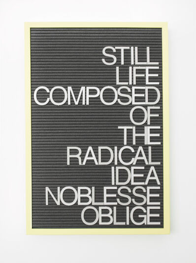 Maynard Monrow, 'Untitled / Noblesse Oblige', 2017