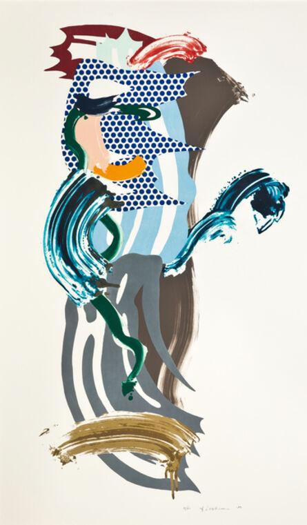 Roy Lichtenstein, 'Blue Face', 1989