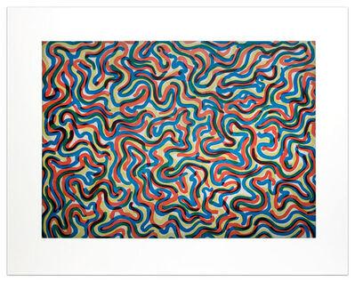 Sol LeWitt, 'Curvy Brushstrokes (Color)', 1997