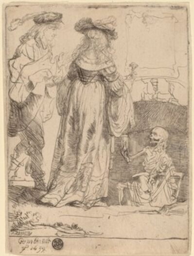 Rembrandt van Rijn, 'Death Appearing to a Wedded Couple from an Open Grave', 1639