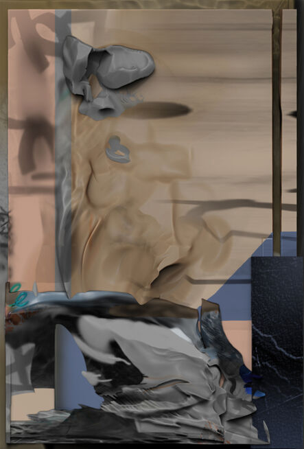 Wu Chuan-Lun, 'Debris_ Saturday (Landsberger Allee)', 2020