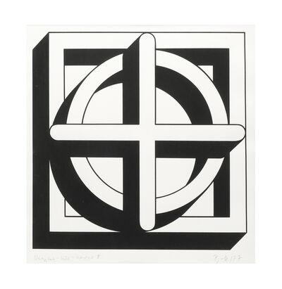 Imre Bak, 'Square-Circle-Cross II', 1977