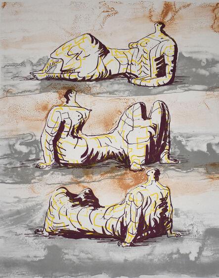Henry Moore, 'Three Reclining Figures', 1971/72