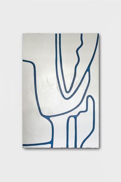 Emil Michael Klein, 'Untitled LIX (White Tones, Black Lines, Primary Blue)', 2014