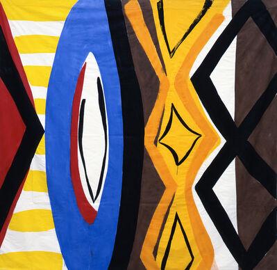 Kim MacConnel, 'Untitled #7. (red, black, yellow, white, blue, red, black, brown, orange)', 2004