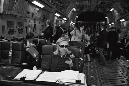 Diana Walker, 'On Board a C-17, Malto to Tripoli, Libya, Oct. 18, 2011, The Secretary of State', 2011
