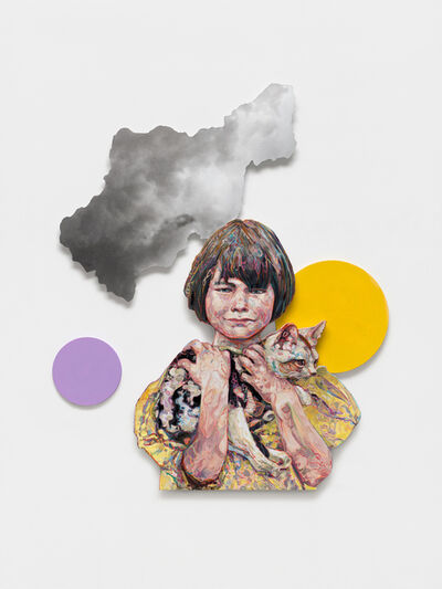 Hung Liu 刘虹, 'Homeless Cat with Girl', 2020