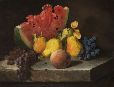 Lilly Martin Spencer, 'Still Life with Watermelon, Pears, and Grapes', ca. 1860