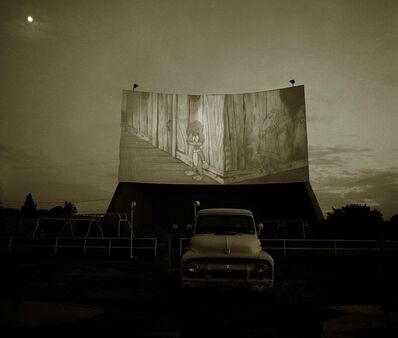 Steve Fitch, 'Drive-in theater, Highway 80, Dallas, Texas', 1973