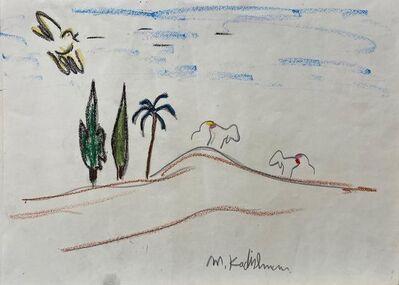 Menashe Kadishman, 'Goats on the Hill', Late 20th century