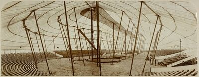 '[Barnum and Bailey Circus Tent in Paris, France]', 1901-1902