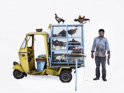 Martin Roemers, 'Bajaj autorickshaw #2, Chicken seller Javed Shaikh (Nashik, Maharashtra)', 2019