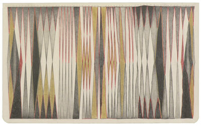 Jessica Deane Rosner, 'Ruled Unruled with Some Red Lines', 2018