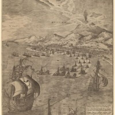 Frans Huys after Pieter Bruegel the Elder, 'Naval Battle in the Straits of Messina', 1561