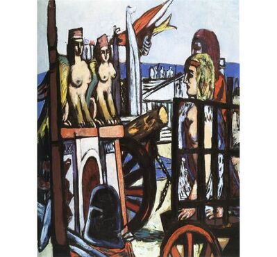 Max Beckmann, 'Transporting the Sphinxes', 1945
