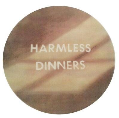 Ed Ruscha, 'Harmless Dinners plate', 2017