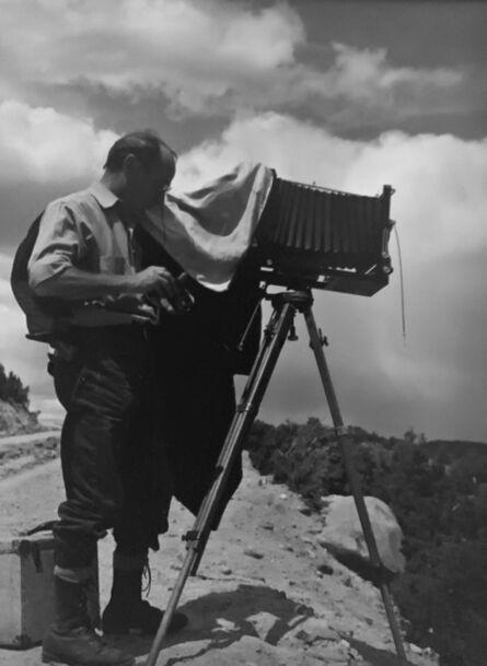 Ernest Knee, 'Edward Weston at Galisteo Falls (Lamy), NM', 1941