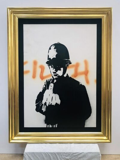 Banksy, 'Rude Copper ('Filth')', 2002-2003