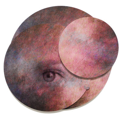 Angelica Bergamini, 'Collage of Eye in Circles: 'Whispers from the Cosmos #4'', 2018