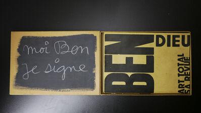 Ben Vautier, 'moi ben je signe', 1975