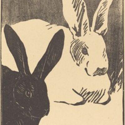Henri-Charles Guérard, 'Rabbits (Les Lapins)', 1893