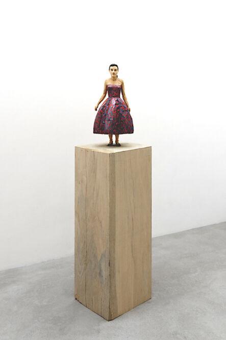 Stephan Balkenhol, 'Woman with glossy evening dress', 2018