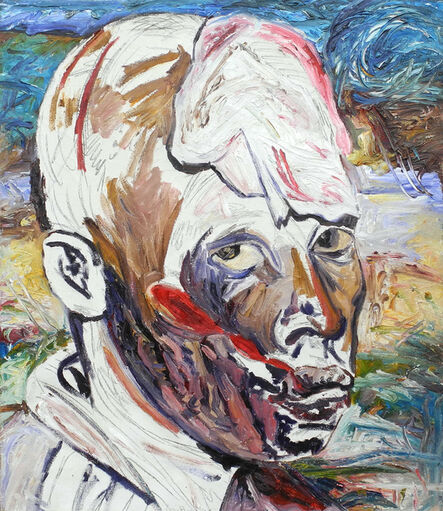 George Gittoes, 'First Eye Witness - Emacule with Machete Slashes', 1995