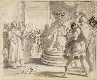 Giovanni Bilivert, 'Moses and Aaron before Pharoah'