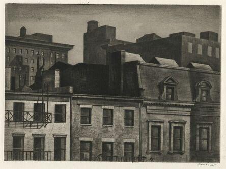 Armin Landeck, 'Housetops, 14th Street', 1937