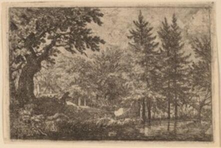 Allart van Everdingen, 'Fir Trees at the Water', probably c. 1645/1656