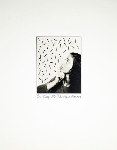 Roberta Allen, 'Counting 50 Pointless Arrows', 1976
