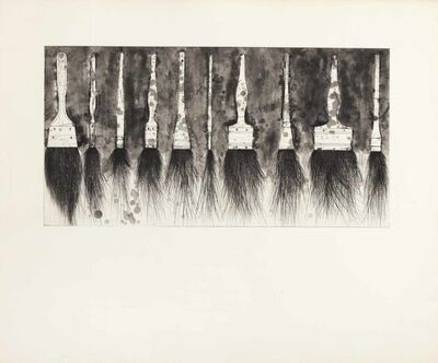 Jim Dine, 'Five Paintbrushes (Fourth State)', 1973