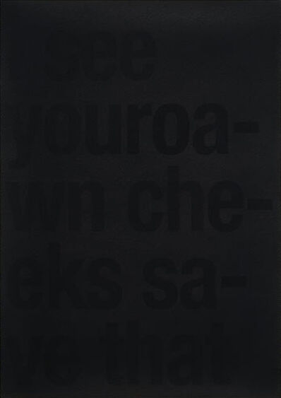 """João Onofre, '""""Untitled C (3rd line 2nd verse)""""', 2008"""